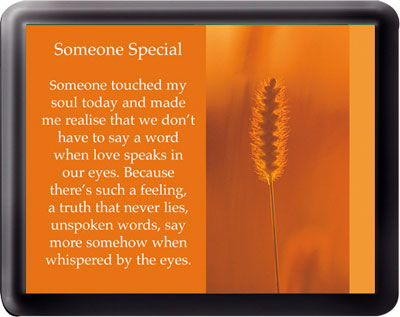 Acrylic Fridge Magnet/Someone Special   (3331)
