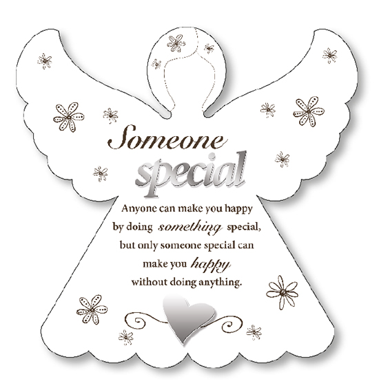 Wood Angel Plaque/Someone Special   (33869)