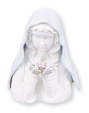 Ceramic Blue Madonna 5 1/2 inch/With Light   (37830)