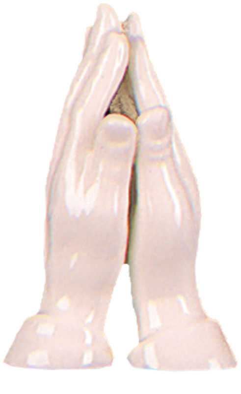 Porcelain 3 1/2 inch Praying Hands   (3852)