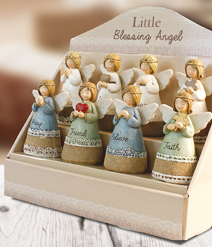 Resin 4 1/4 inch Message Angel/Display  Pack   (39320)