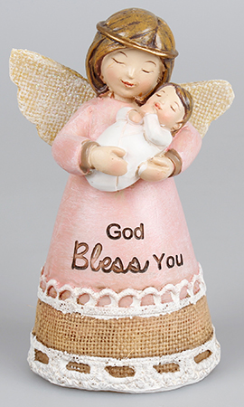 Resin 4 1/4 inch Message Angel/Baby Girl   (39324)