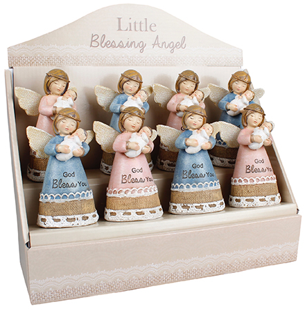 Resin 4 1/4 inch Message Angel/Display  Pack   (39326)