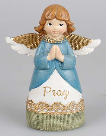 Resin 4 1/4 inch Message Angel/Praying Hands   (39333)