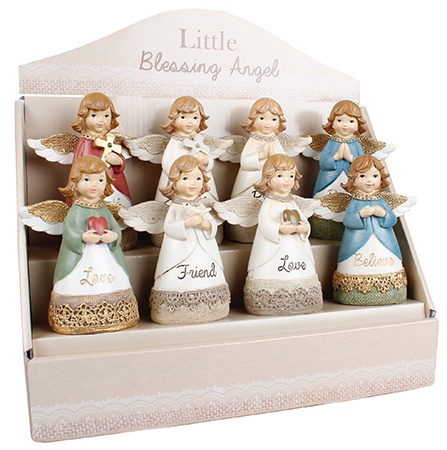 Resin 4 1/4 inch Message Angel/Display  Pack   (39340)
