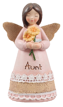 Resin 4 1/4 inch Message Angel/Aunt   (39351)