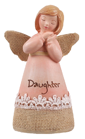 Resin 4 1/4 inch Message Angel/Daughter   (39352)