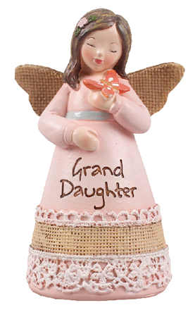 Resin 4 1/4 inch Message Angel/Granddaughter   (39353)