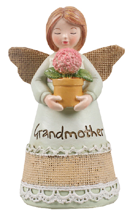 Resin 4 1/4 inch Message Angel/Grandmother   (39354)