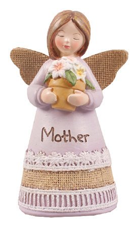 Resin 4 1/4 inch Message Angel/Mother   (39355)