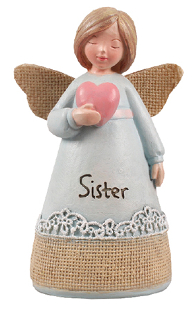 Resin 4 1/4 inch Message Angel/Sister   (39356)