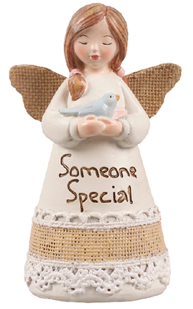 Resin 4 1/4 inch Message Angel/Someone Special   (39357)