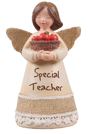 Resin 4 1/4 inch Message Angel/Special Teacher   (39358)