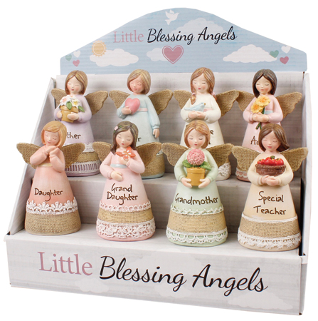 Resin 4 1/4 inch Message Angel/Display  Pack   (39360)