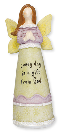 Resin 6 1/4 inch Message Angel/Every Day...   (3943)