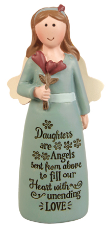 Resin 4 inch Message Angel/Daughters...   (39532)