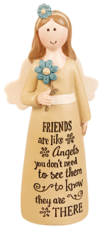 Resin 4 inch Message Angel/Friends-Angels...   (39534)