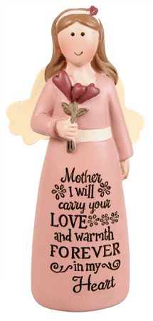 Resin 4 inch Message Angel/Mother   (39538)