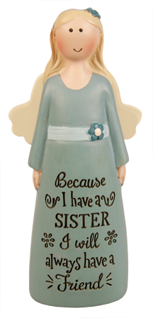 Resin 4 inch Message Angel/Sister   (39539)