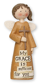 Resin 5 inch Message Angel/My Grace...   (3955)