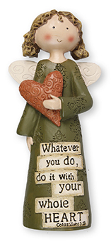 Resin 5 inch Message Angel/What ever you do...   (3959)