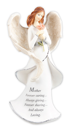 Resin 8 inch Message Angel/Mother   (39609)
