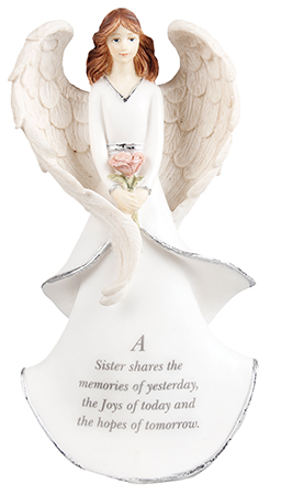 Resin 8 inch Message Angel/Sister   (39610)
