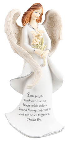 Resin 8 inch Message Angel/Thank You   (39612)