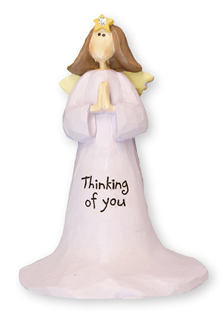 Resin 4 inch Angel - Thinking of You   (3988)