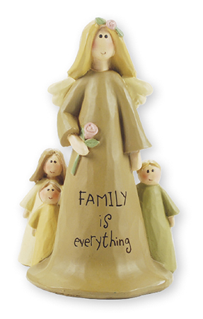 Resin 4 inch Angel - Family is Everything   (3991)