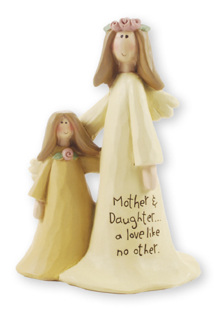 Resin 4 inch Angel - Mother & Daughter   (3993)