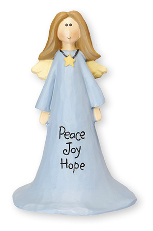 Resin 4 inch Angel - Peace,Joy and Hope   (3999)