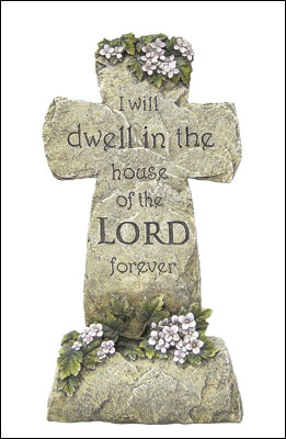 Resin Grave Statue - 16 1/2 inch Cross   (4845)