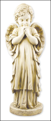 Resin Grave Statue/25 inch Praying Angel   (4846)
