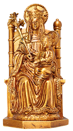 Florentine 4 inch Statue/Walsingham/Gold Finish   (52567/GOLD)