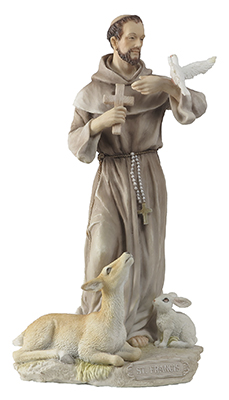 Veronese Resin Statue 8 1/2 inch St.Francis   (52708)