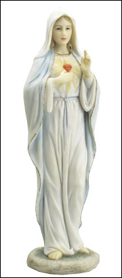 Veronese Resin Statue 8 1/4 inch S.H.of Mary   (52717)