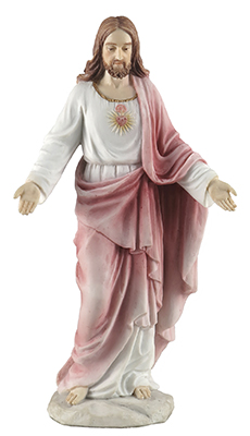 Veronese Resin Statue 8 inch Sacred Heart   (52718)