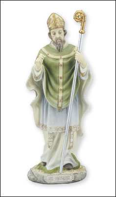 Veronese Resin Statue 8 1/2 inch St.Patrick   (52720)