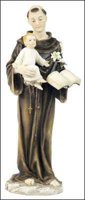 Veronese Resin Statue 10 1/4 inch St.Anthony   (52725)