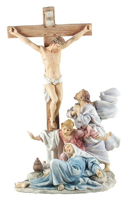 Veronese Resin Statue 13 inch Crucifixion   (52745)