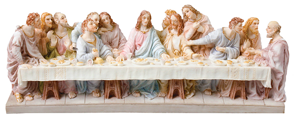 Veronese Resin Statue/3 1/2 inch Last Supper   (52760)