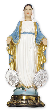 Florentine 5 inch Statue-Miraculous Medal   (52940)