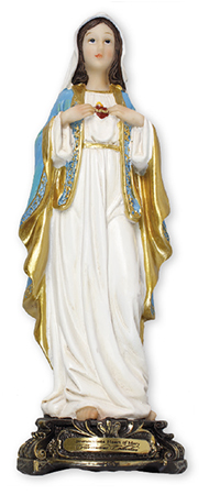 Florentine 5 inch Statue-S.Heart of Mary   (52943)