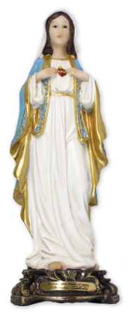 Florentine 8 inch Statue-S.H.of Mary   (52973)