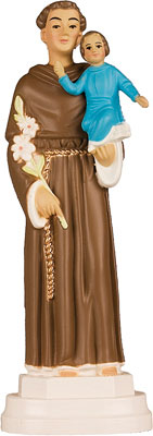 6 inch Plastic Statue St. Anthony   (5532/ANT)