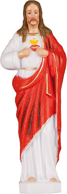 6 inch Plastic Statue Sacred Heart   (5532/SH)