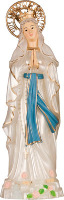 6 1/2 inch Lourdes Statue/Pearlised   (5533/LDS)