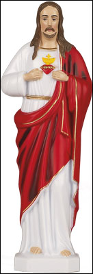 10 inch Sacred Heart Statue   (5538)