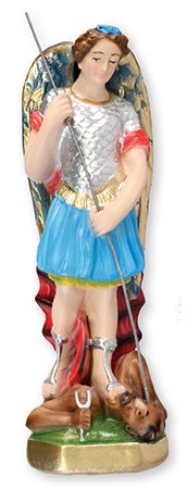 8 inch Plaster Statue/St.Michael   (5552)